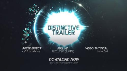 Videohive - Distinctive Cinematic Trailer l Particles Lights Trailer l Particles Waves Trailer