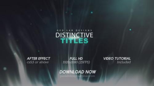 Videohive - Distinctive Titles l Particles Lights Titles l Lines Waves Titles