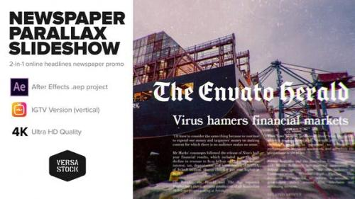 Videohive - Newspaper Parallax Slideshow Promo