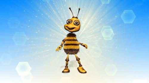 Videohive - Happy Bee Logo Reveal