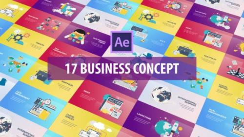 Videohive - Business Concept - Flat Animation