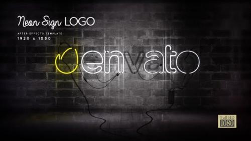 Videohive - Neon Sign Logo