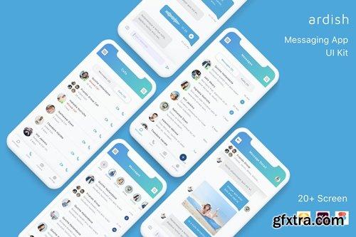 Ardish - Messaging App UI Kit
