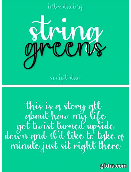 String Greens Font