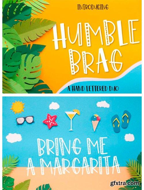 Humble Brag Duo Font