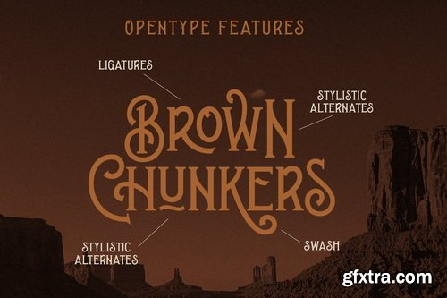 CM - Brown Chunkers - Display Typeface - 4784014