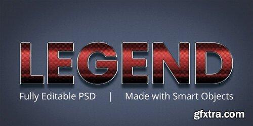 Legend editable text style effect Premium Psd
