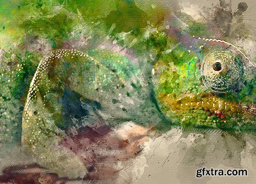 Graphicriver Watercolor Photoshop Action 14830388 - Animated Version Available