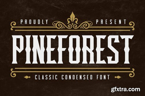 CM - Pineforest - Classic Condensed Font 4802341