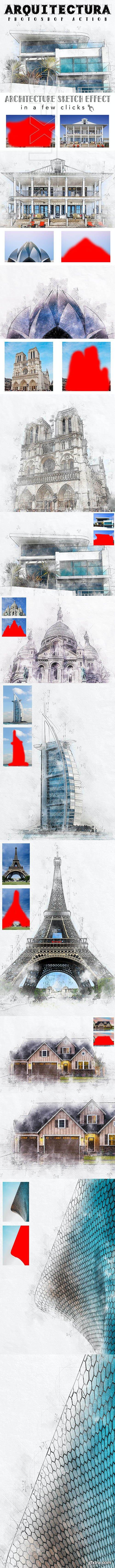 GraphicRiver - Arquitectura - Architecture Sketch Photoshop Action 26013208