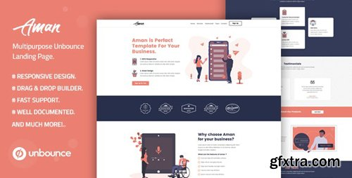 ThemeForest - Aman v1.0 - Multi-Purpose Template with Unbounce Page Builder - 26352563