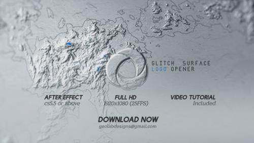 Videohive - Glitch Surface Logo Opener l Surface Distortion Logo l Surface Emboss Logo Opener