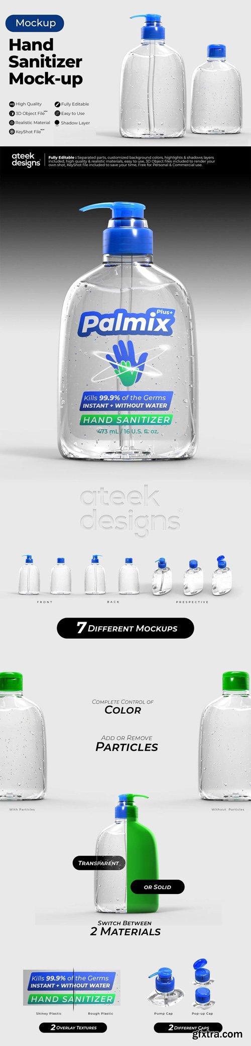 Hand Sanitizer Mockups for Cinema 4D & KeyShot