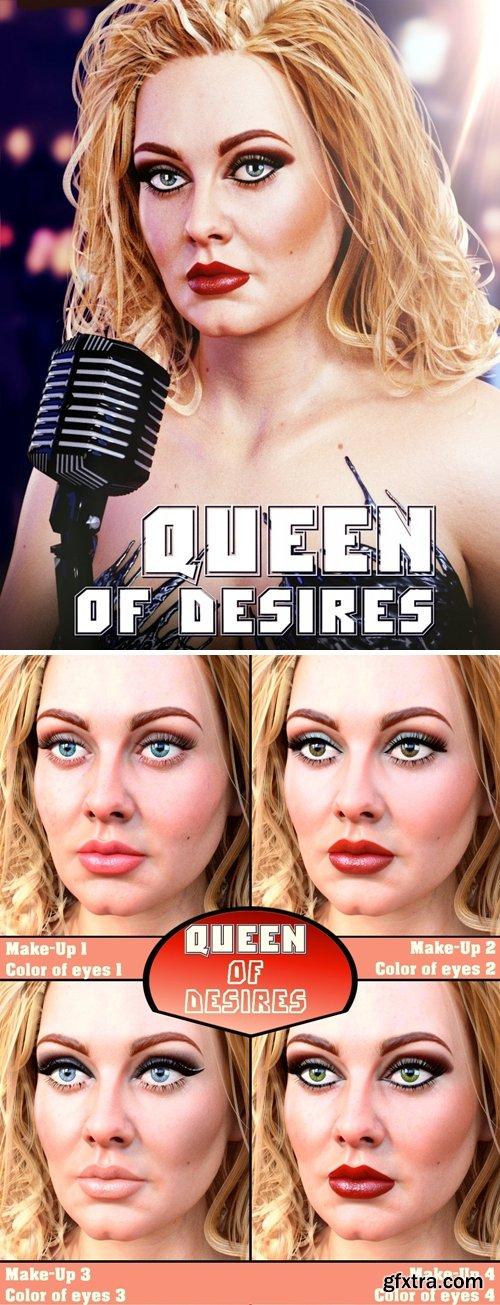 Daz3D - Queen of Desires HD for Genesis 8 Female