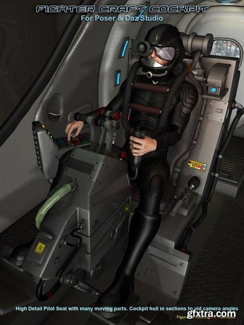 Daz3D - Scifi Fighter Craft Cockpit