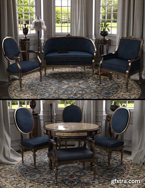 Daz3D - Vintage Furniture Iray
