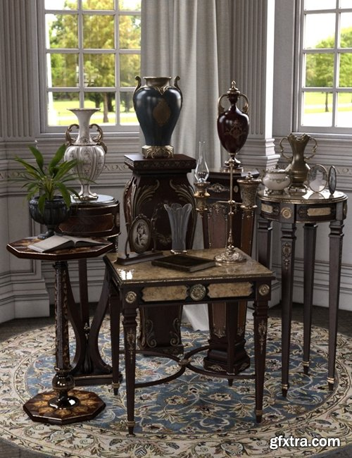 Daz3D - Vintage Stands and Tables