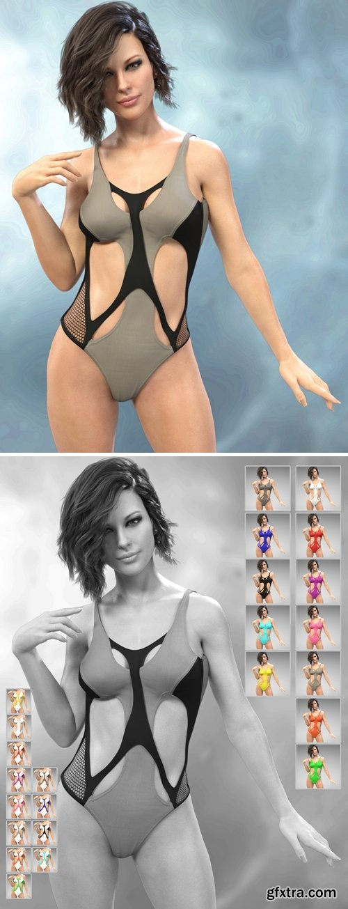 Daz3D - X-Fashion Sport Bodysuit for Genesis 8 Female(s)