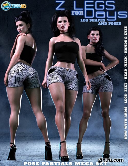 Daz3D - Z Legs for Days Shapes and Poses Mega Set
