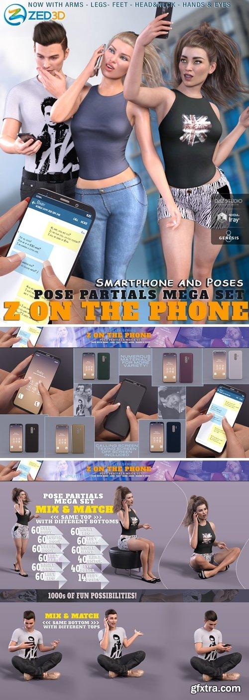 Daz3D - Z On the Phone Pose Mega Set