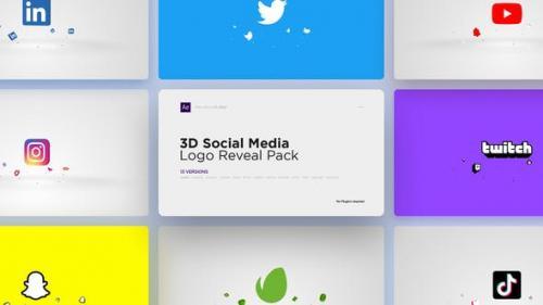 Videohive - 3D Social Media Logo Reveal Pack