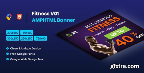 CodeCanyon - Fitness AMPHTML Banners Ads Template v1.0 - 26422325