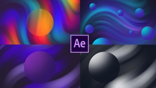 Udemy - Gradient Liquid Title Animation in After Effects