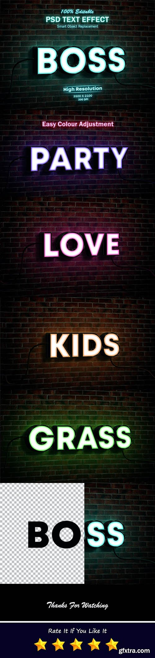 GraphicRiver - Neon Light Sign 3D Mock-up PSD Text Effect 26315239