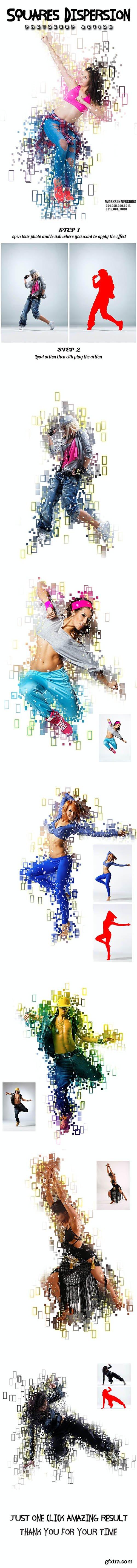 GraphicRiver - Squares Dispersion Photoshop Action 26351103