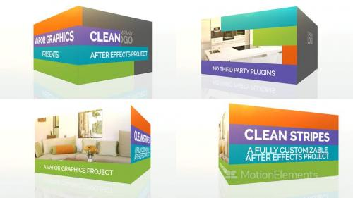 Clean Stripes: After Effects Template - 10685040