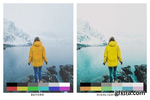 CreativeMarket - 50 Teal & Yellow Lightroom Presets and LUTs 4747346