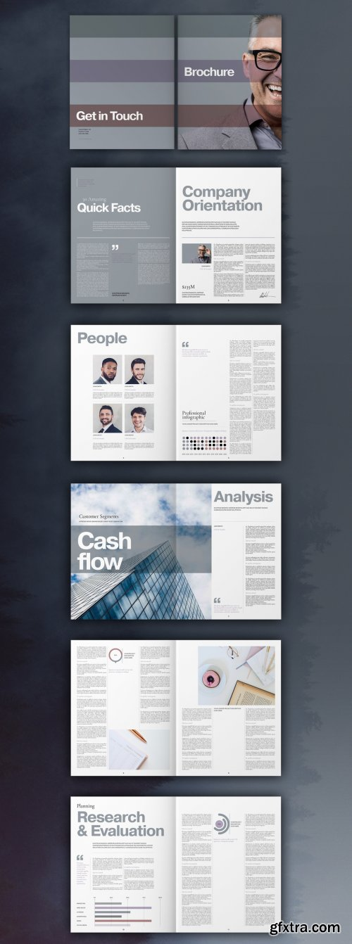 Business Brochure Layout 335042542