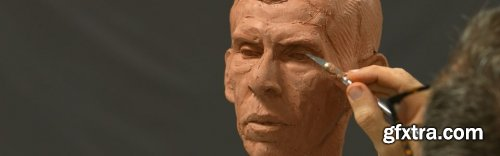 Modeling the Portrait in Clay Part 5: Forehead & Hairline