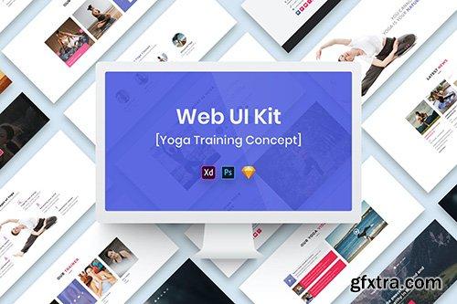 Yoga Training Web UI Kit