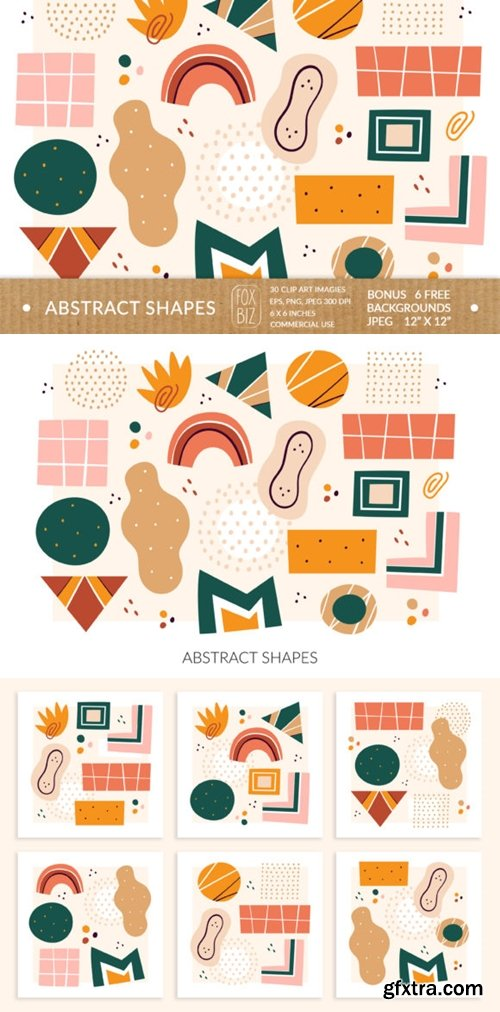 Abstract Shapes Clipart. Digital Prints. 4030764