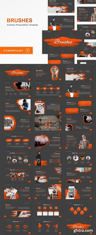 Brushes - Creative PowerPoint, Keynote, Google Slides Template