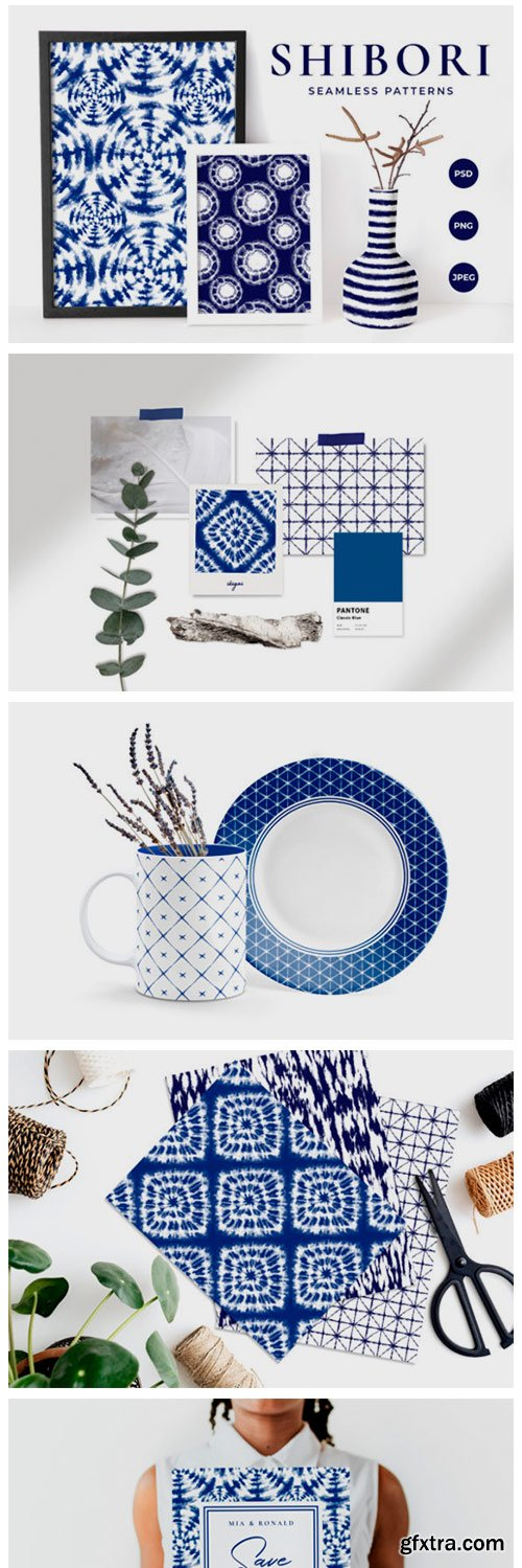 Shibori Tie Dye Seamless Patterns 4052675
