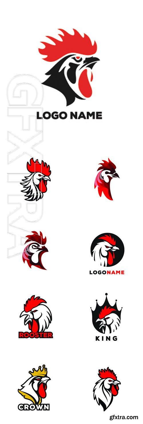 Rooster vector logo illustration