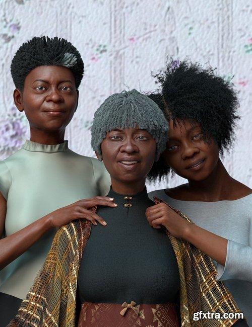 Daz3D - dForce Oso Textured Hair for Genesis 8 Female Bundle