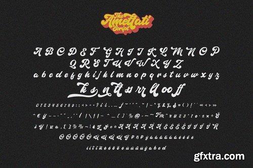 CM - Amettati - Script Retro Font 4899313
