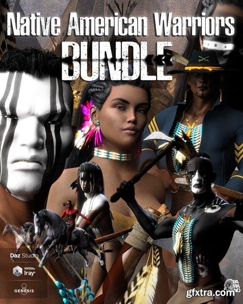 Daz3D - Native American Warrior Bundle DS