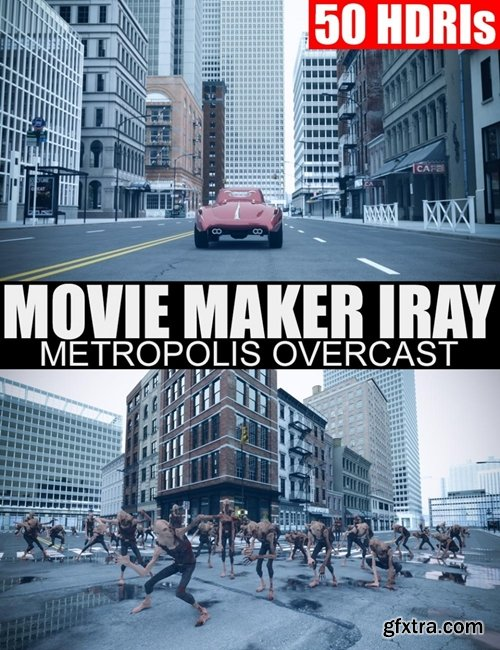 Daz3D - 50 HDRIs – Movie Maker Iray – Metropolis Overcast