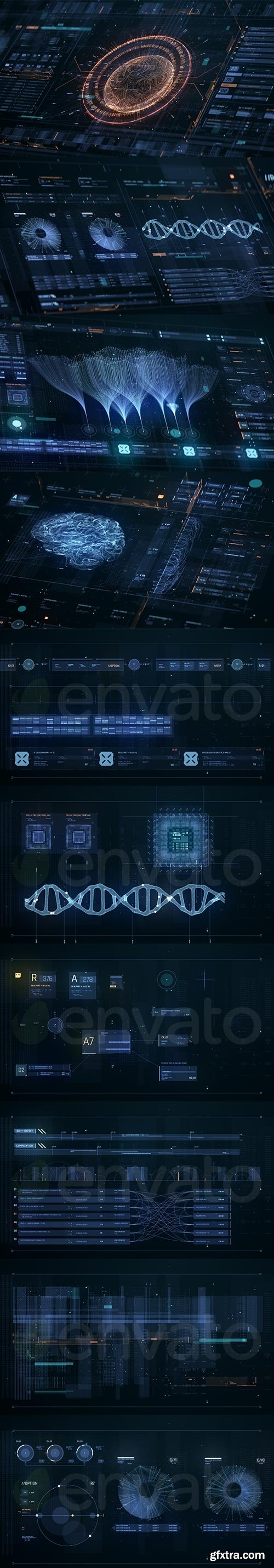 Videohive - Ultimate FUI HUD Library - 25744407