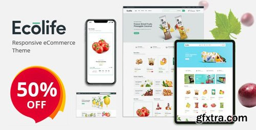 ThemeForest - Ecolife v1.0 - Organic, Food, Cosmetic & Multipurpose Opencart Theme (Update: 29 April 20) - 26486472