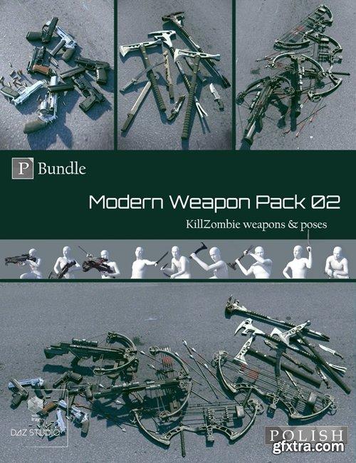Daz3D - KillZombie Modern Weapon Pack Bundle 02