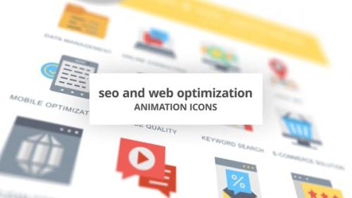 Videohive - SEO and Web Optimization - Animation Icons