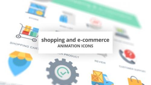 Videohive - Shopping and E-Commerce - Animation Icons