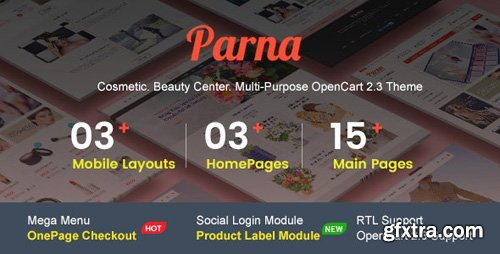 ThemeForest - Parna v1.0.4 - Multipurpose Responsive OpenCart 2.3 Theme | Cosmetic | Beauty Center | Fashion Store - 19991127