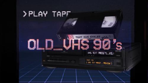 Videohive - VHS Glitch Titles Presets