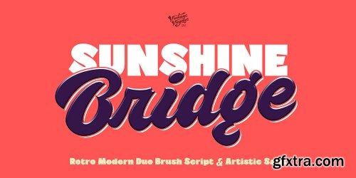 Myfonts VVDS Sunshine Bridge Font Family - 6 Fonts